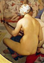 Jean-Auguste-Dominique Ingres - Detail of The Turkish Bath, detail of the musician, 1863