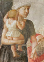 Tommaso Masaccio - Detail of Detail of the woman and child, from St. Peter and St. Paul Distributing Alms, c.1427
