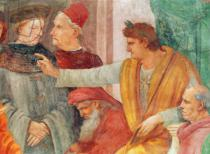 Fra Filippo Lippi - Detail of Detail of the Dispute with Simon Mago , c.1484-85