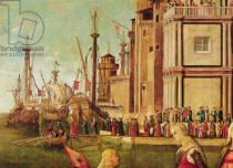 Vittore Carpaccio - Detail of Detail of the Meeting of Etherius and Ursula and the Departure of the Pilgrims, from the St. Ursula Cycle, c.1490-96