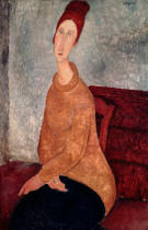 Amedeo Modigliani - Jeanne Hebuterne in a Yellow Jumper, 1918-19