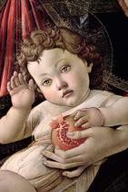 Sandro Botticelli - Detail of the Christ Child from the Madonna of the Pomegranate