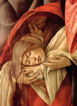 Sandro Botticelli - Detail of Lamentation over the Dead Christ, detail of Mary Magdalene, 1490-1500