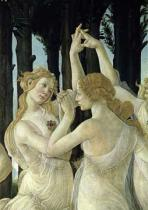 Sandro Botticelli - Detail of Detail of two of the Three Graces, from the Primavera