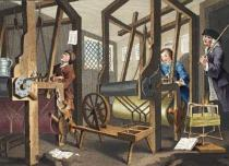 William Hogarth - The Fellow 'Prentices at their Looms, plate I of 'Industry and Idleness', illustration from 'Hogarth Restored: The Whole Works o