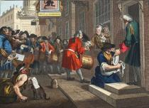William Hogarth - The Industrious 'Prentice out of his Time and Married to his Master's Daughter, plate VI of 'Industry and Idleness', illustratio