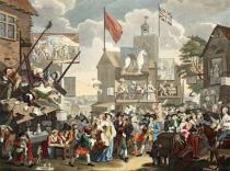 William Hogarth - Southwark Fair, 1733, illustration from 'Hogarth Restored: The Whole Works of the celebrated William Hogarth, re-engraved by Tho