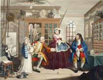 William Hogarth - Marriage a la Mode, Plate III, The Inspection, illustration from 'Hogarth Restored: The Whole Works of the celebrated William Ho