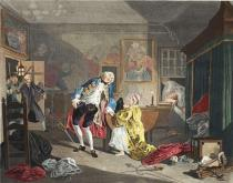 William Hogarth - Marriage a la Mode, Plate V, The Bagnio, illustration from 'Hogarth Restored: The Whole Works of the celebrated William Hogarth,