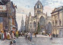 John Fulleylove - St. Giles's Cathedral from the Lawnmarket
