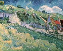 Vincent van Gogh - Cottages at Auvers-sur-Oise, 1890