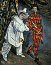 Paul Cézanne - Pierrot and Harlequin , 1888