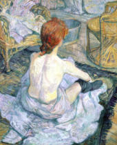 Henri de Toulouse-Lautrec - Woman at her Toilet, 1896