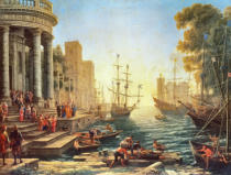 Claude Lorrain - Seaport with the Embarkation of St. Ursula