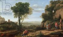Claude Lorrain - Landscape with David at the Cave of Abdullam, 1658