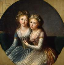 Élisabeth-Louise Vigée-Lébrun - Portrait of Grand Duchesses Alexandra Pavlovna and Elena Pavlovna of Russia, 1796