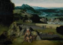 Joachim Patinir - The Rest on the Flight into Egypt  c.1518-24