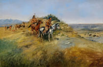Charles Marion Russell - Buffalo Hunt, 1891