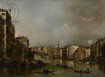 Francesco Guardi - View up the Grand Canal Toward the Rialto, c.1785