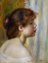 Pierre Auguste Renoir - Head of a young woman, late 19th century