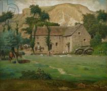 Jean-François Millet - The Farm House, c.1867-69