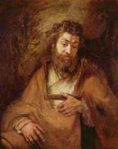 Harmensz van Rijn Rembrandt - The Apostle Simon, 1661