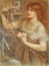 Dante Charles Gabriel Rossetti - Risen at Dawn - Gretchen Discovering Faust's Jewels , 1868
