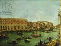 Francesco Guardi - View of the Grand Canal, Venice, from the Rialto
