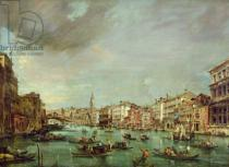 Francesco Guardi - View of the Grand Canal, Venice, looking towards the Rialto