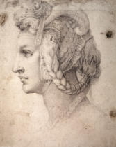 Michelangelo Buonarroti - Study of Head