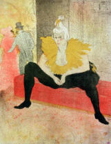 Henri de Toulouse-Lautrec - La Clowness Looks Around, Madamoiselle Cha-U-Kao