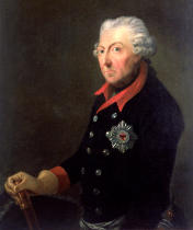 J.H.C. Franke - Friedrich the Great (1712-86) Wearing the Uniform  of the 15th Infantry Regiment
