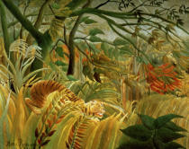 Henri J.F. Rousseau - Tiger in a Tropical Storm  1891