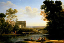 Claude Lorrain - Pastoral Capriccio with the Arch of Constantinople