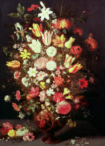 Phillipe de Marlier - Flowers in a vase