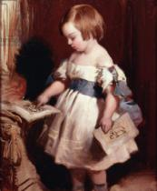 Sir Edwin Henry Landseer - Child with a drawing