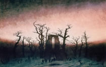 Caspar David Friedrich - Abbey in the Oakwood, 1810