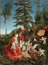 Lucas Cranach der Ältere - Rest on the Flight into Egypt, 1504
