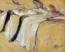 Henri de Toulouse-Lautrec - Woman lying on her Back - Lassitude, study for 'Elles', 1896