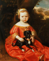 Benjamin Gerritsz. Cuyp - Portrait of a Girl with a Dog