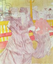 Henri de Toulouse-Lautrec - At the Moulin Rouge: The Two Waltzers, 1897