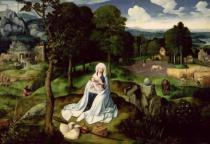 Joachim Patenier or Patinir - Rest on the Flight into Egypt