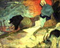 Paul Gauguin - Washerwomen of Arles, 1888