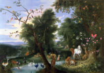 Jan van Kessel - The Garden of Eden, 1659