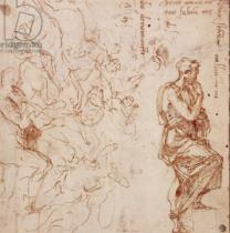 Michelangelo Buonarroti - Figure Studies for a Woman