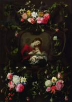 Daniel Seghers - The Virgin and Child in a Garland of Flowers