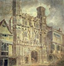 Joseph Mallord William Turner - Christchurch Gate, Canterbury, c.1792-93