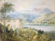 Joseph Mallord William Turner - Tent Lodge, by Coniston Water, 1818,