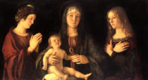 Giovanni Bellini - Madonna and Child with St. Mary Magdalene and St. Catherine