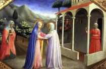 Fra Angelico - Visitation, from the predella of the Annunciation Alterpiece, c.1430-32